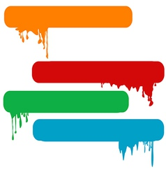 Set of splash color paint banners vector image vector image