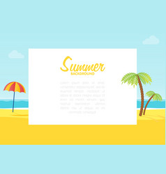 Summer tropical sea beach background with space vector