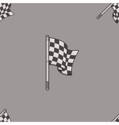 Vintage speed flag patern vector image