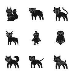 zoo toys hunting and other web icon in black vector image vector image