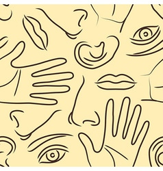 Body parts pattern vector image vector image