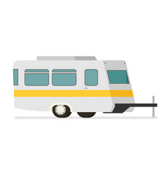 flat trailer isolated on white background vector image