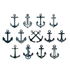 Vintage marine anchors vector image vector image