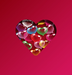 Abstract colorful heart balloons design elements vector image