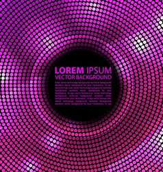 Abstract disco background with halftone vector image vector image
