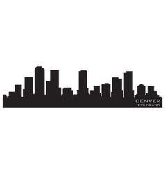 denver colorado skyline detailed silhouette vector image vector image
