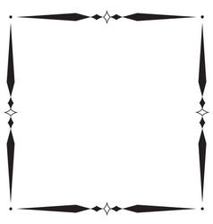 frame and boder on white background vector image