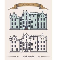 Scotland blair castle old architecture exterior vector