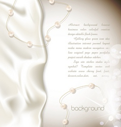 silk and pearls background vector image vector image