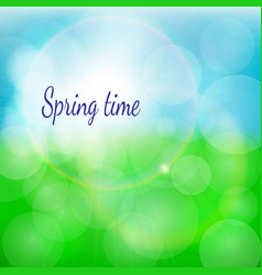 spring natural background with bokeh and vector image vector image