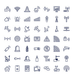 49 signal icons vector