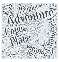 A unique adventure vacation in ghana word cloud vector