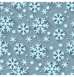 Abstract pattern with snowflakes in flat design vector image
