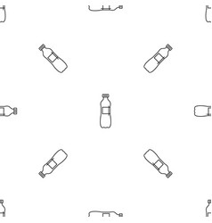 aloe bottle pattern seamless vector image