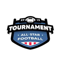 american football championship emblem logo vector image