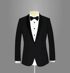 Black tuxedo vector
