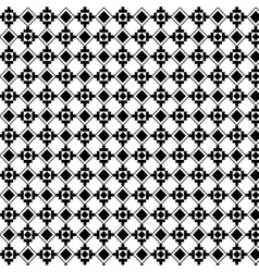 Boho style black and white background design vector