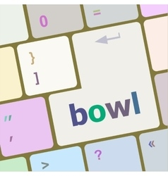 bowl word on computer pc keyboard key vector image