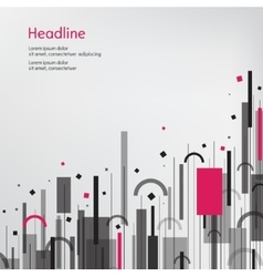Business background Pink and grey vector