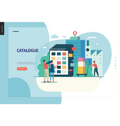 Business series - product catalogue web template vector