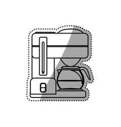 Coffee maker machine vector
