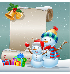 Collection of cartoon snow card background vector