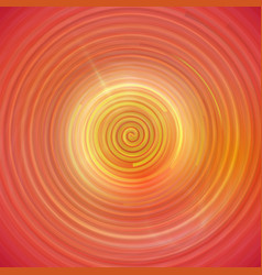 colorful orange swirling cyclone background vector image
