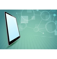 Communications via tablet device vector