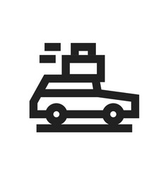 concept of moving car with vector image