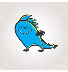 Cute smiling dragon vector image