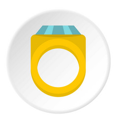 Diamond ring icon circle vector