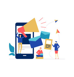 Digital marketing - flat design style colorful vector