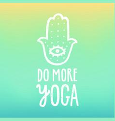 Do more yoga vector