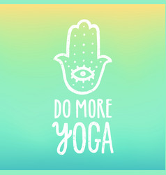 do more yoga vector image