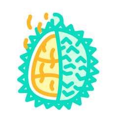 Durian smell color icon line vector
