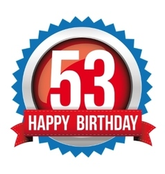 Fifty free years happy birthday badge ribbon vector