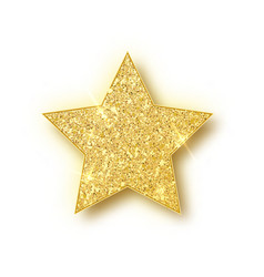 Gold glitter star golden sparkle luxury vector