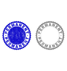 Grunge permanent scratched watermarks vector