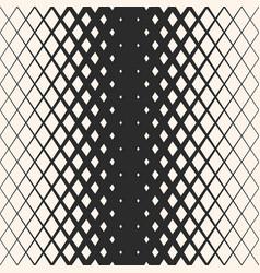 Halftone seamless pattern with rhombuses diamond vector