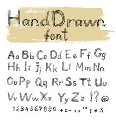 Handwriten gel pen doodle font for your design vector