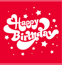 Happy birthday logos vector
