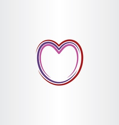 heart stylized icon line vector image