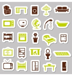 home equipment stickers vector image
