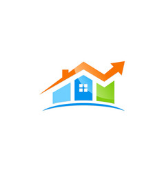 House sold arrow agent logo vector