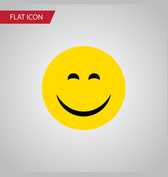 Isolated joy flat icon smile element can vector