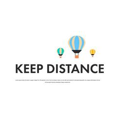 keep distance to prevent coronavirus pandemic vector image