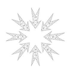 mesh pressure arrows icon vector image