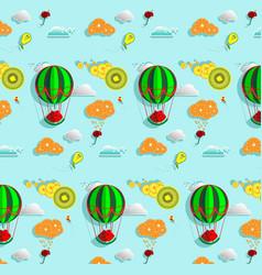 Pattern fairy fruit world vector