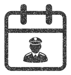 Police day grainy texture icon vector