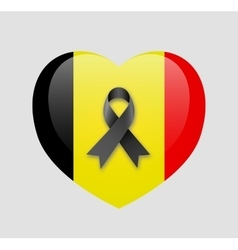 Pray for Brussels flag vector image